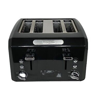 Waring Ctt400 Commercial Style Bagel Bread Toaster 4 Slice Black Used Tested