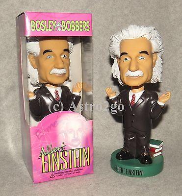 The Original ALBERT EINSTEIN BOBBLE HEAD--Bosley Bobbers MINT  RARE!  New in box
