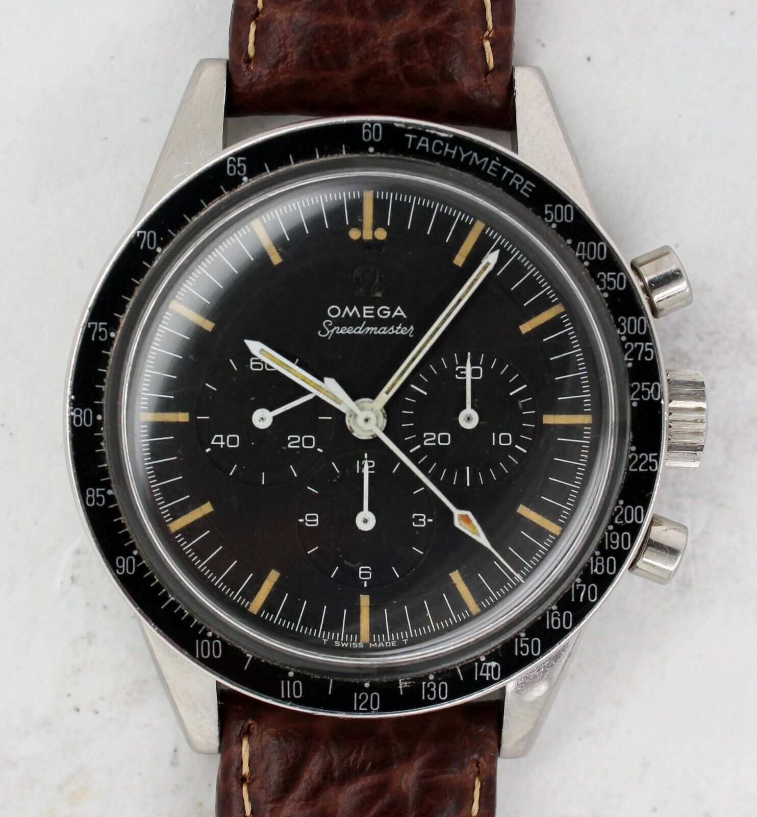 Vintage Omega Speedmaster Chronograph Wristwatch 105.003-65 Cal. 321 Ed White - watch picture 1