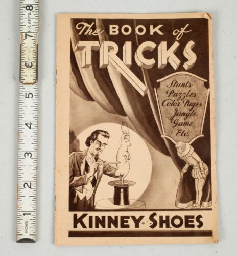 Rare Vintage 1932 Kinney Shoes Book of Tricks Advertising Booklet