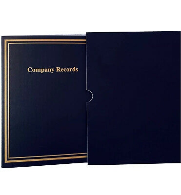 Corporate Records 3-ring Binder With Slipcase And Index Taps - Black - New