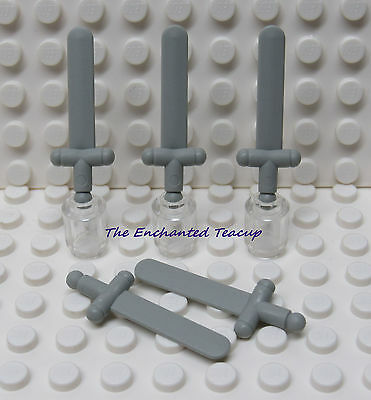 LEGO LOT OF 25 NEW FLAT DARK GOLD MINIFIGURE GREATSWORD WEAPON PIECE