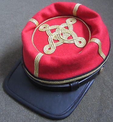 CIVIL WAR CSA CONFEDERATE ARTILLERY OFFICER WOOL KEPI FORAGE CAP HAT-XLARGE