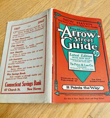 1942 ARROW STREET GUIDE NEW HAVEN/EAST HAVEN / HAMDEN