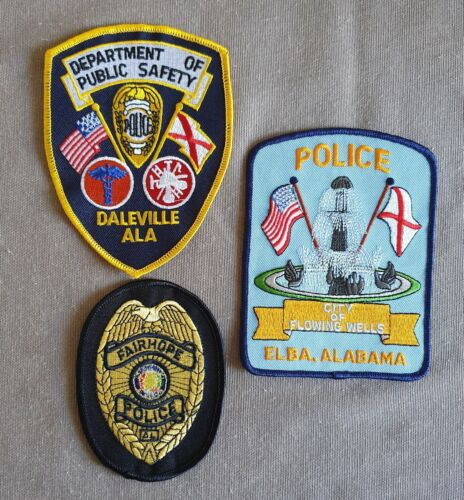 USA - 3 x Different Police Patches - Alabama #5