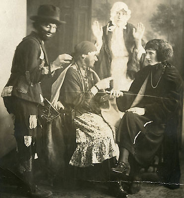 VINTAGE EDWARDIAN HALLOWEEN HOBO AMERICAN DRUM RED RIDING HOOD FORTUNE OLD PHOTO