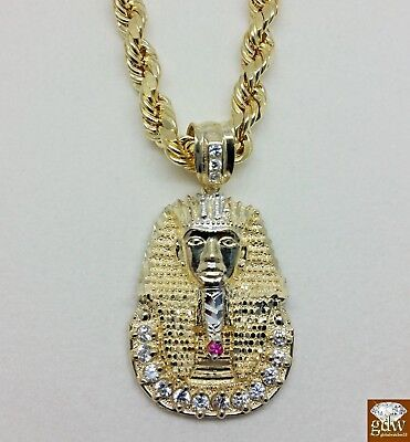 10k jesus pendantebay 1 new 10 k yellow gold pharaoh head pendant 15 long cross angel mozeypictures Gallery