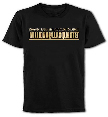 MILLION DOLLAR QUARTET T-Shirt - Johnny Cash, Elvis, Jerry Lee Lewis, C.Perkins