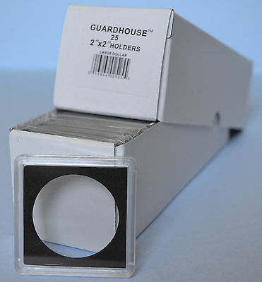 25   Guardhouse 2X2 Tetra Plastic Snaplock Coin Holder For Large Silver Dollar