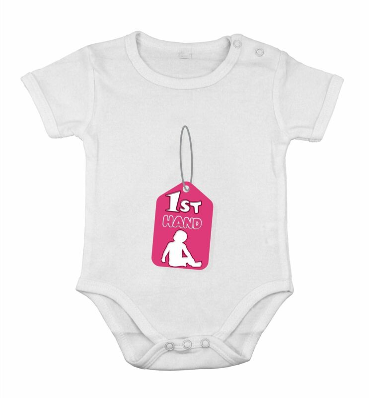 Baby Newborn Romper Cotton Clothing sleeve OUTFIT Tag First hand 1St print Girl