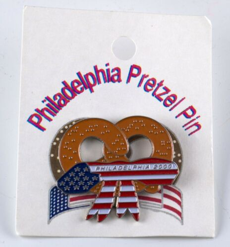 Philadelphia Pretzel Lapel Pin 2000 Republican National Convention