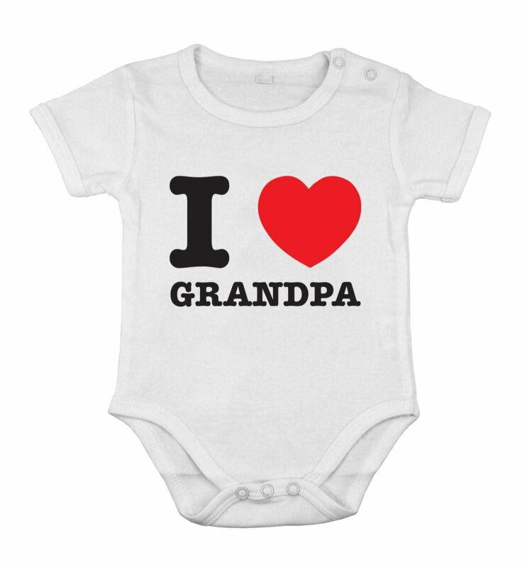 I love Grandpa best dad Funny Cute Baby Newborn Romper Cotton cothing