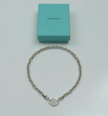 Tiffany & Co. 925 Sterling Silver Return to Tiffany Oval Tag Necklace Size (Tiffany Oval)