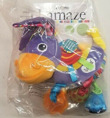 "(NEW) LAMAZE TOY ""Squeezy the Donkey"" Developmental Toy"