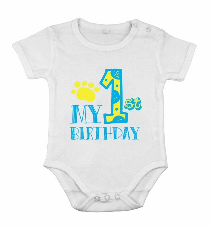 My First Birthday Newborn Romper Baby boys Party one piece