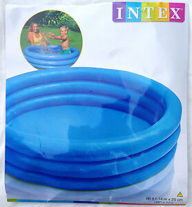 Intex 3 Ring Crystal Blue Inflatable Paddling Pool - Size 45