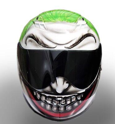 Airbrush Motorcycle Paint (The Joker Airbrush Painted motorcycle helmet )
