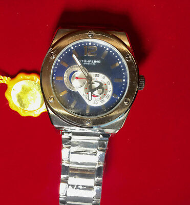 Stuhrling original Men's 49mm Automatic krysterna Watch brand new in box