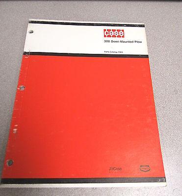 Case 308 Semi Mounted Plow Parts Catalog Manual 1365 1977