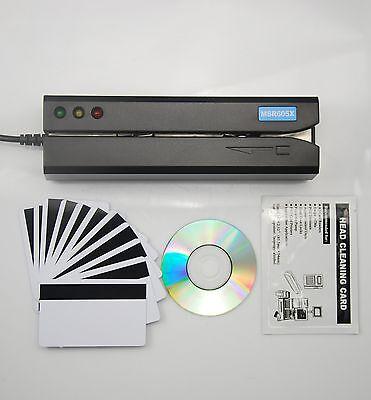 MSR605X Magnetic Stripe Card Reader Writer Encoder Swipe Magstripe MSR206