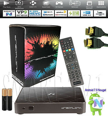 Dreamlink T2 Hybdrid SET-TOP-BOX Quadcore Android 7 + PVR recording WIFI 4K / T1