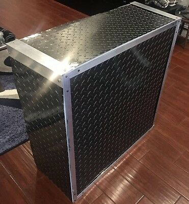 Aluminum Diamond Plate Sheets - Thin .025 Black - 12 X 120 - 2 Pcs