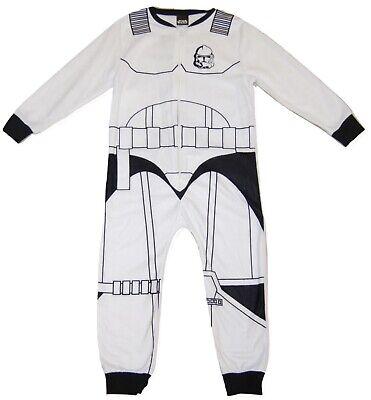 Boys Star Wars Stormtrooper All In One Fleece Pyjamas Fancy Dress 5 - 10 Years