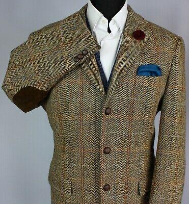 Harris Tweed Jacket Blazer Brown 44R COLLECTORS TWEED 2939