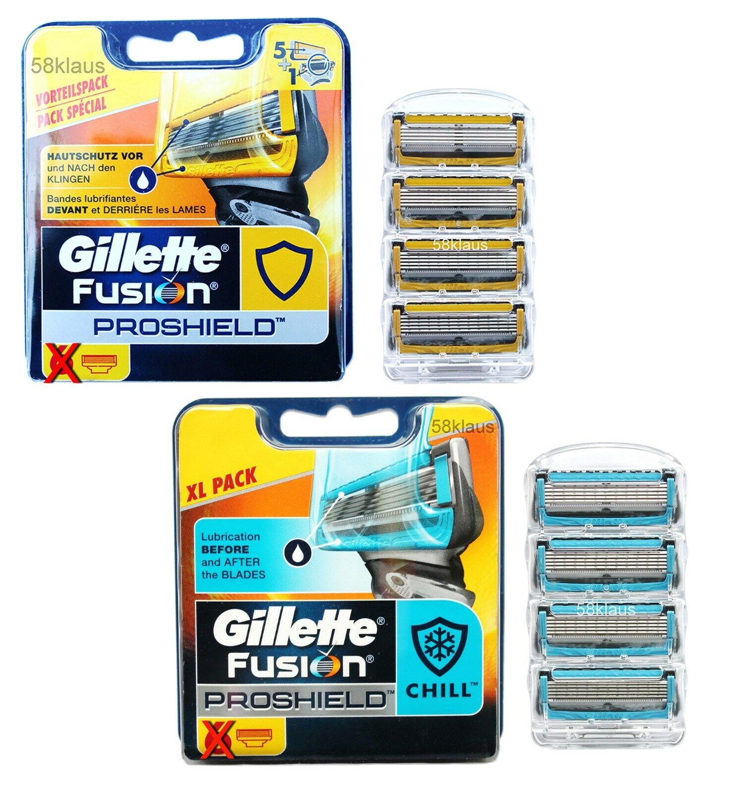 Gillette Fusion Proshield oder Proshield Chill Rasierklingen Klingen 4 6 8 12