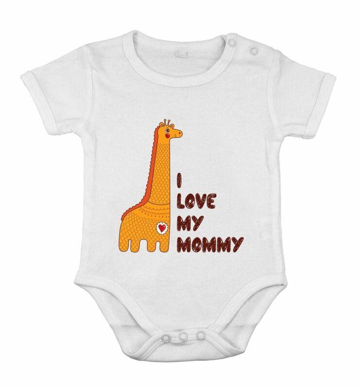 I love My Mommy safari giraf Funny Cute Baby Newborn Romper Cotton cothing