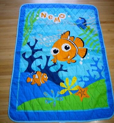 Disney Baby Quilt Finding Nemo & Dory Toddler Bed Crib Size Comforter Blanket  , used for sale  Bloomingdale