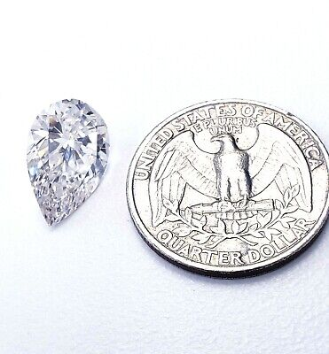 Huge 5.34CT Natural Loose Diamond J VS1 Pear Shape Cut Brilliant GIA Certified