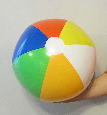 """9 NEW LARGE INFLATABLE MULTI COLORED BEACH BALLS 22"""" POOL BEACHBALL PARTY FAVOR"""