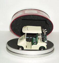 RELIC  Diecast Golf Cart Mini Desk Clock in Original Tin Case Home or Office