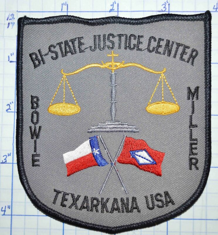 ARKANSAS TEXAS TEXARKANA BI-STATE JUSTICE CENTER POLICE PATCH