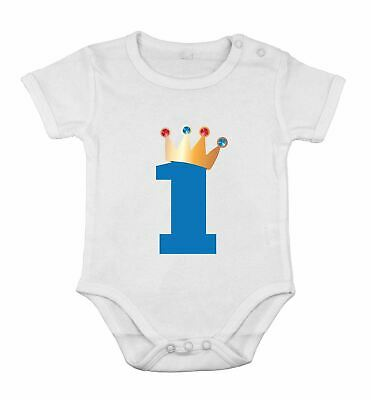 1st Birthday Gift Ideas For Boys (First Birthday Baby Boy ROMPER Newborn Romper Bodysuit King idea gift for)