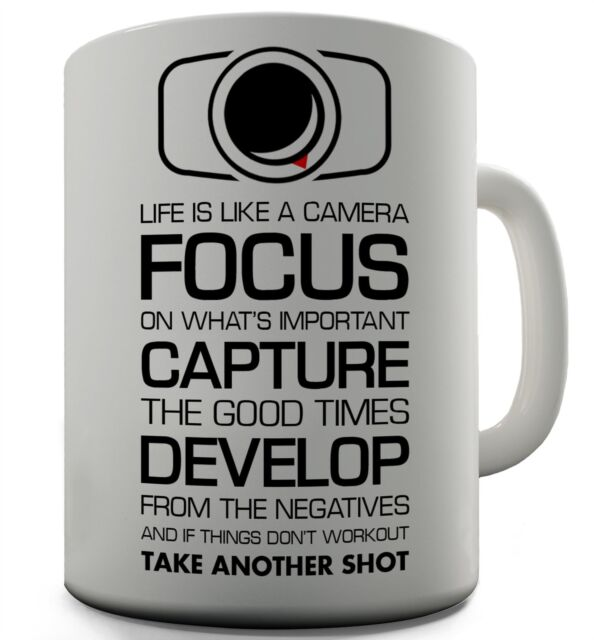 office mug. camera funny design novelty gift tea coffee office mug u