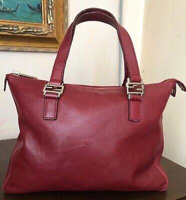 Fendi leather red bag shoulder bag authentic handbag