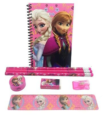 Disney Pink Frozen Stationary Set Back to School Supplies for Kids 8 Pieces (Stationary For Kids)