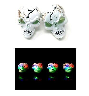 Skeleton Flashing LED Plastic Rings Light Up Finger Glow Party Bag Wholesale UK](Halloween Party Bags Uk)