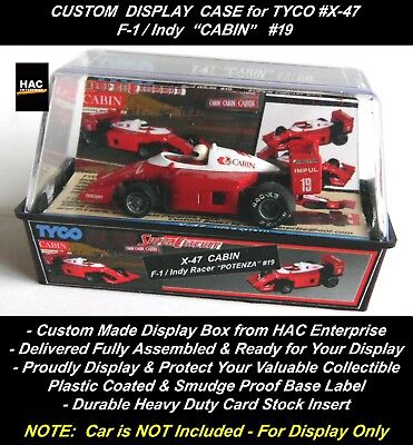 """Custom Display Case:  TYCO #X-47  F-1  Japanese ONLY Release """"CABIN"""" #19 for sale  Shipping to Canada"""
