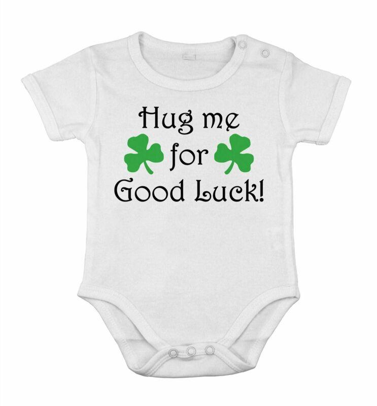 Baby hug me for good luck
