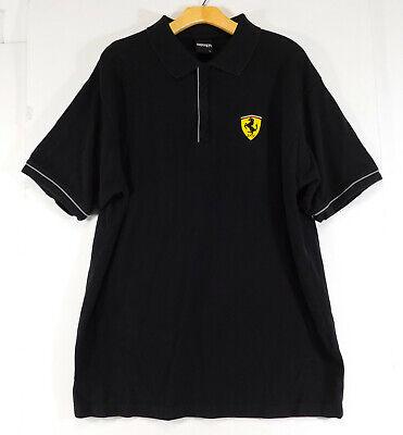 FERRARI Formula 1 Polo Style Collared LOGO SHIRT Black Vintage 2000 MEN'S XL