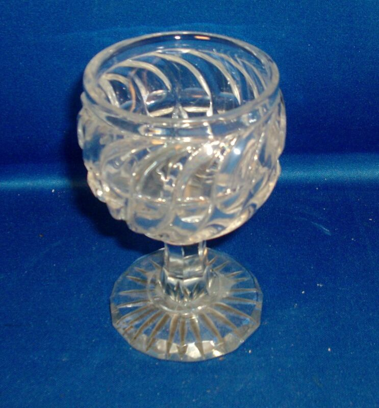 Antique Fine & Heavy 19th century French Baccarat Crystal Wine Glass France