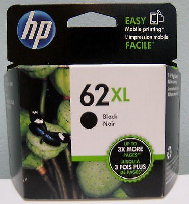 HP 62XL HIGH YIELD GENUINE BLACK INK CARTRIDGE, NEW IN BOX