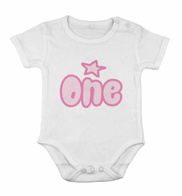 My 1st First Birthday Kids Preset Grow Body girl vest one piece