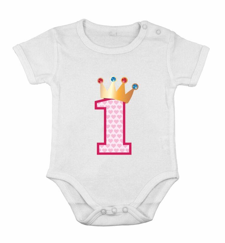 First 1nd Birthday Baby Cotton Girl Newborn Romper romper One-piece princess