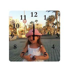 Personalised Custom Clock PHOTO LOGO TEXT Printed Metal Aluminium Wall Clock