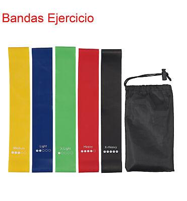 5X Bandas Ejercicio Bandas Elásticas Bandas de Resistencia Gomas Elasticas bolsa