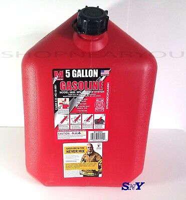 5 Gallon Gas Can 2 Handles Gasoline Canister Barrel Spill Proof System